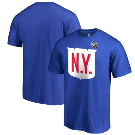 reputable site b7312 2a50f New York Rangers Fanatics Branded 2018 NHL Winter Classic Team Primary Big  & Tall T-Shirt - Blue