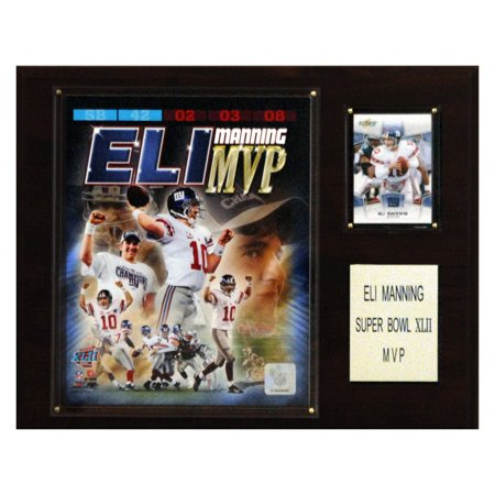C&I Collectables NFL 12x15 Eli Manning Super Bowl XLII MVP New York Giants Player Plaque