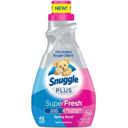 Snuggle Plus Super Fresh Liquid Fabric Softener, Spring Burst, 48.6 Fluid Ounces, 46 Loads (Smuggle Seals)