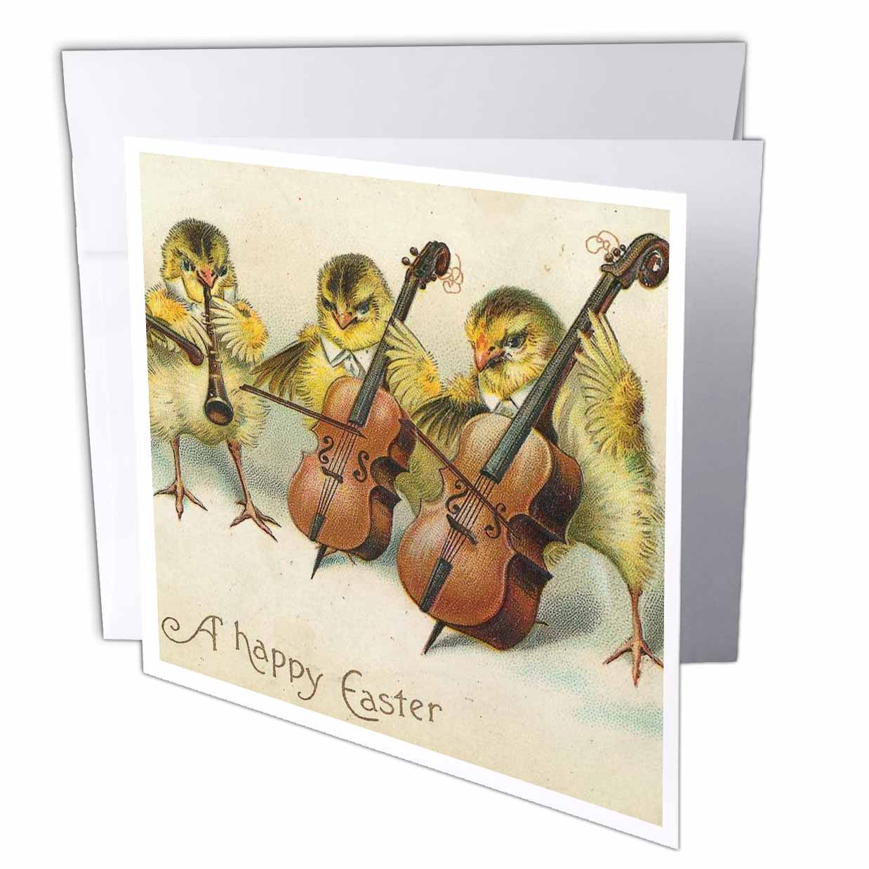 3dRose Easter Chicks , Greeting Cards, 6 x 6 inches, set of 12