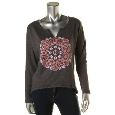 Billabong Print Sweatshirt (Billabong Womens Graphic V-Neck)