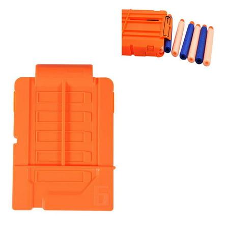 Foam Cartridge - Ymiko Soft Bullet Clip Plastic Cartridge Holder, Toy Darts Bullts Clip, Foam Bullet Clip EVA(Opaque Orange)