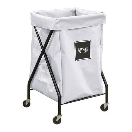 X-Frame Cart,6 Bu,White Vinyl ROYAL BASKET TRUCK G06-WWX-XFA-3ONN