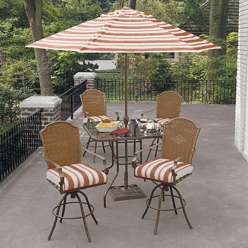 Home Trends Patio Furniture   Hometrends Park Lake 5 Piece Woven Bar Height  Set. home trends patio furniture   Roselawnlutheran