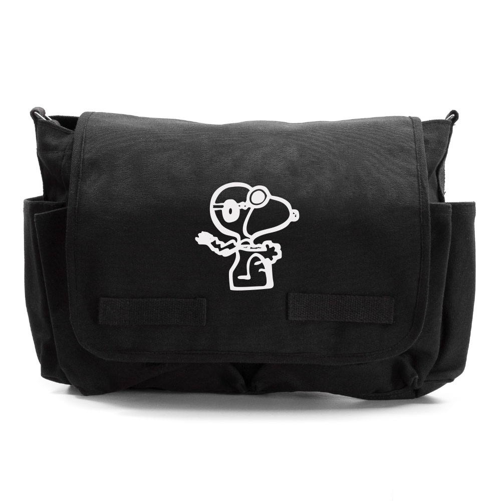 Snoopy Flying Ace Heavyweight Canvas Messenger/Diaper Shoulder Bag