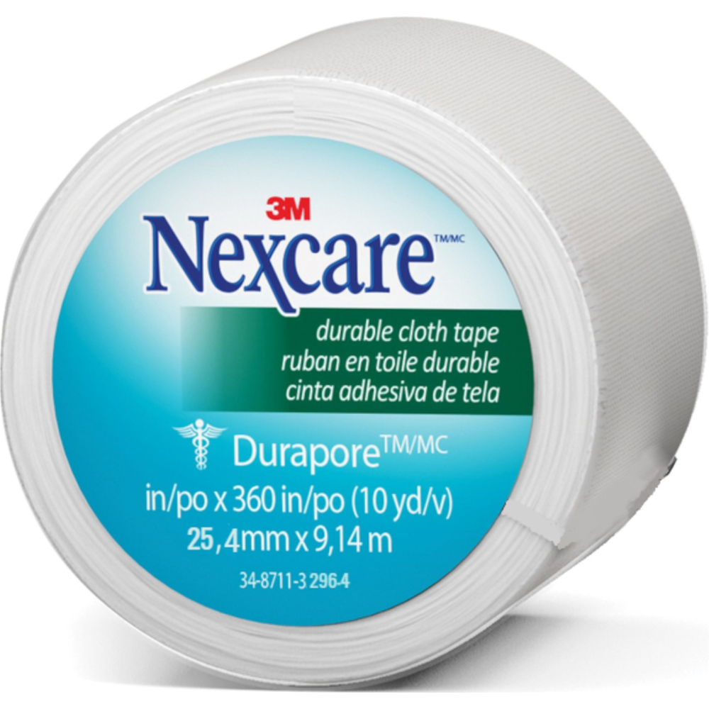 3M Nexcare First Aid Durable Cloth Tape, 1 Inch X 10 Yards (12 Pack)