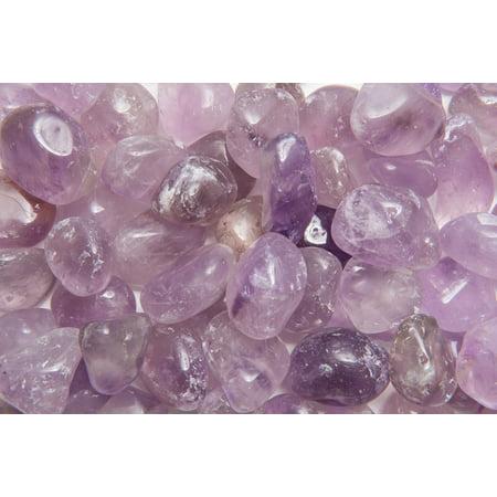 Fantasia Crystal Vault: 3 lb Amethyst Tumbled Stones - XLarge - 1.5