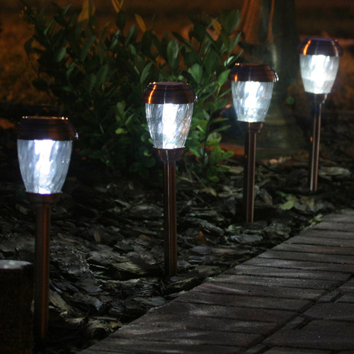Smart Solar Charleston Solar Pathway Lights, Set of 6, Heritage Copper