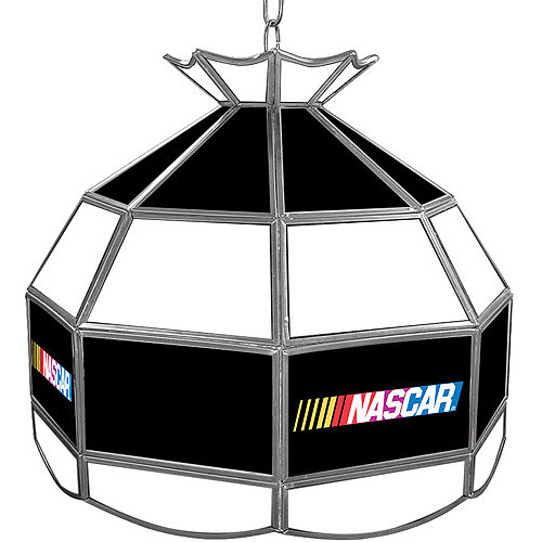 """Trademark Global NASCAR 16"""" Stained Glass Tiffany Lamp Light Fixture"""