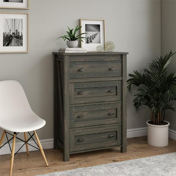 Ameriwood Home Farmington 4 Drawer Dresser, Multiple Colors Available