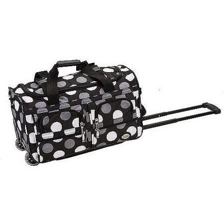"Rockland 22"" Rolling Duffel Bag - New Black Dot"