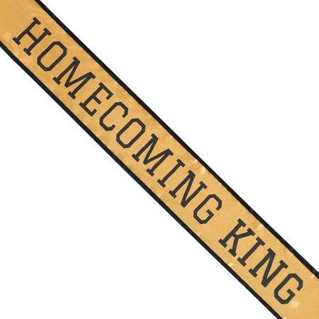 GOLD & BLACK SCHOOL COLOR HOMECOMING KING SASH - Homecoming Court Sashes