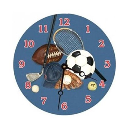 15 in. Little Athlete Round Clock - image 1 of 1