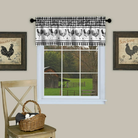 French Country Red Rooster (Barnyard Rooster Kitchen Window 14