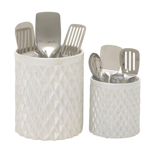 Woodland Imports 2 Piece Kitchen Utensil Holder Set by Woodland Imports