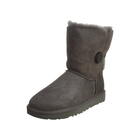 64a4b7cf671 ugg women's bailey button ii black high-top sheepskin boot - 6m