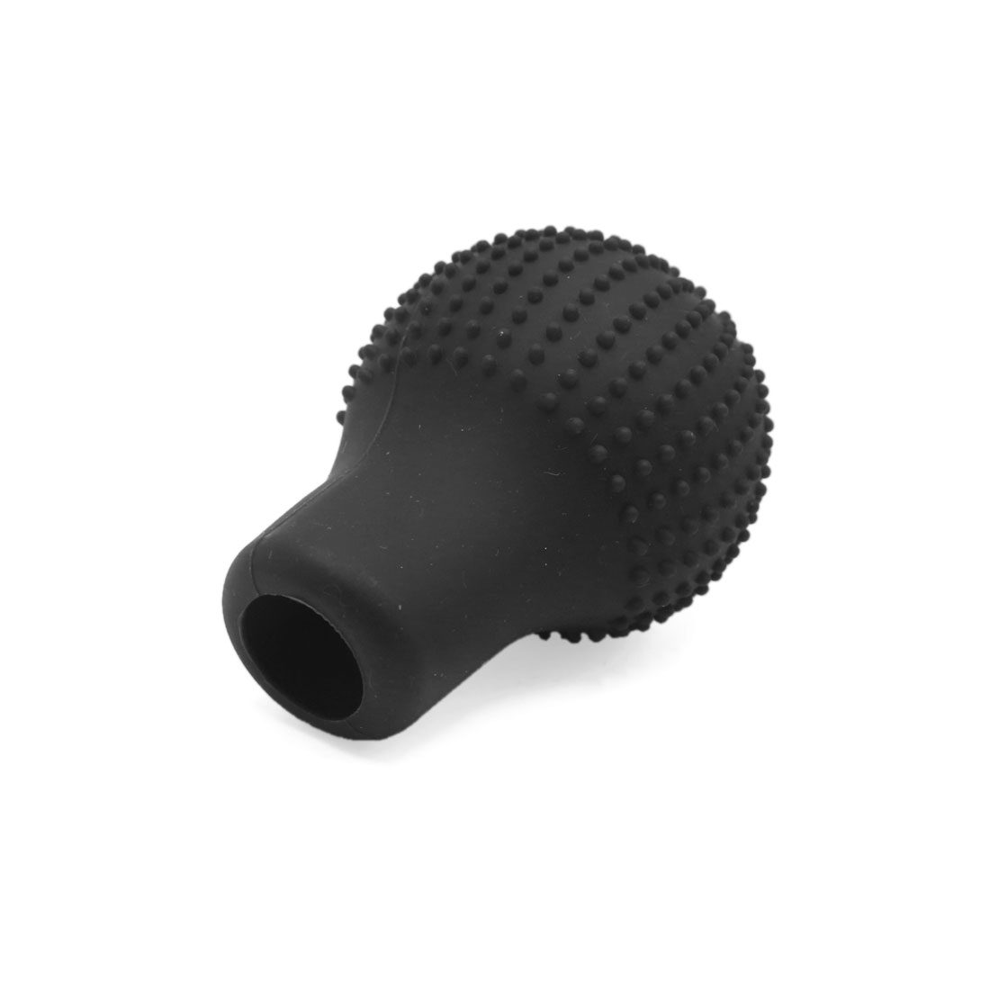 Black Rubber Car Round Hand Brake Head Cover Gear Shift Knob Cushion Protector - image 1 of 3