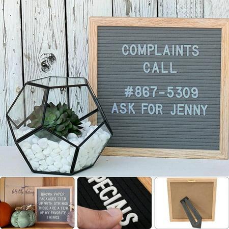 10x10'' Changeable Oak Wood Felt Letter Message Board Home Restaurant 340 - Felt Boards