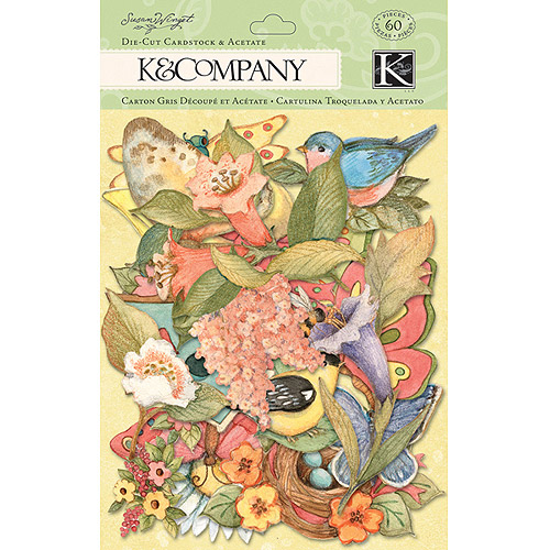 K & Company Spring Blossom Die-Cut Cardstock and Acetate, Icons