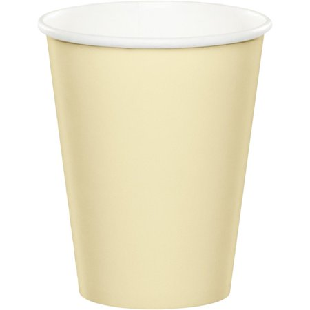Coed Party (Club Pack of 240 Ivory Disposable Paper Hot and Cold Party Tumbler Cups 9)