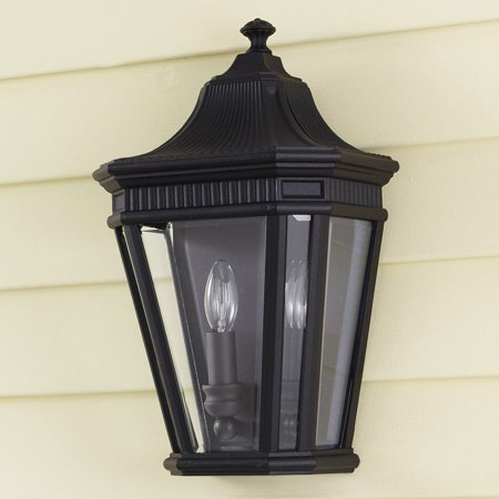 Feiss Cotswold Lane Outdoor Pocket Wall Mount Lantern - 16H in. Black