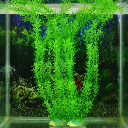 Iuhan Free shipping 13 plastic Artificial grass decoration water fish