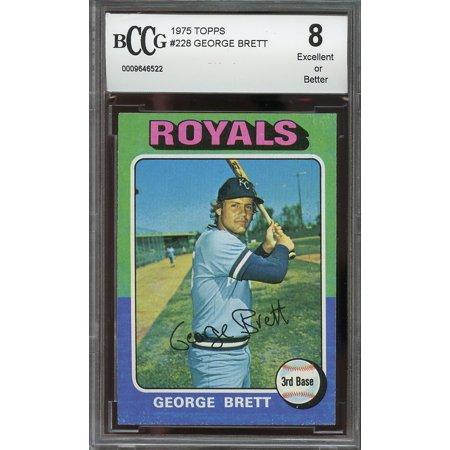1975 Topps 228 George Brett Kansas City Royals Rookie Card Bgs Bccg 8