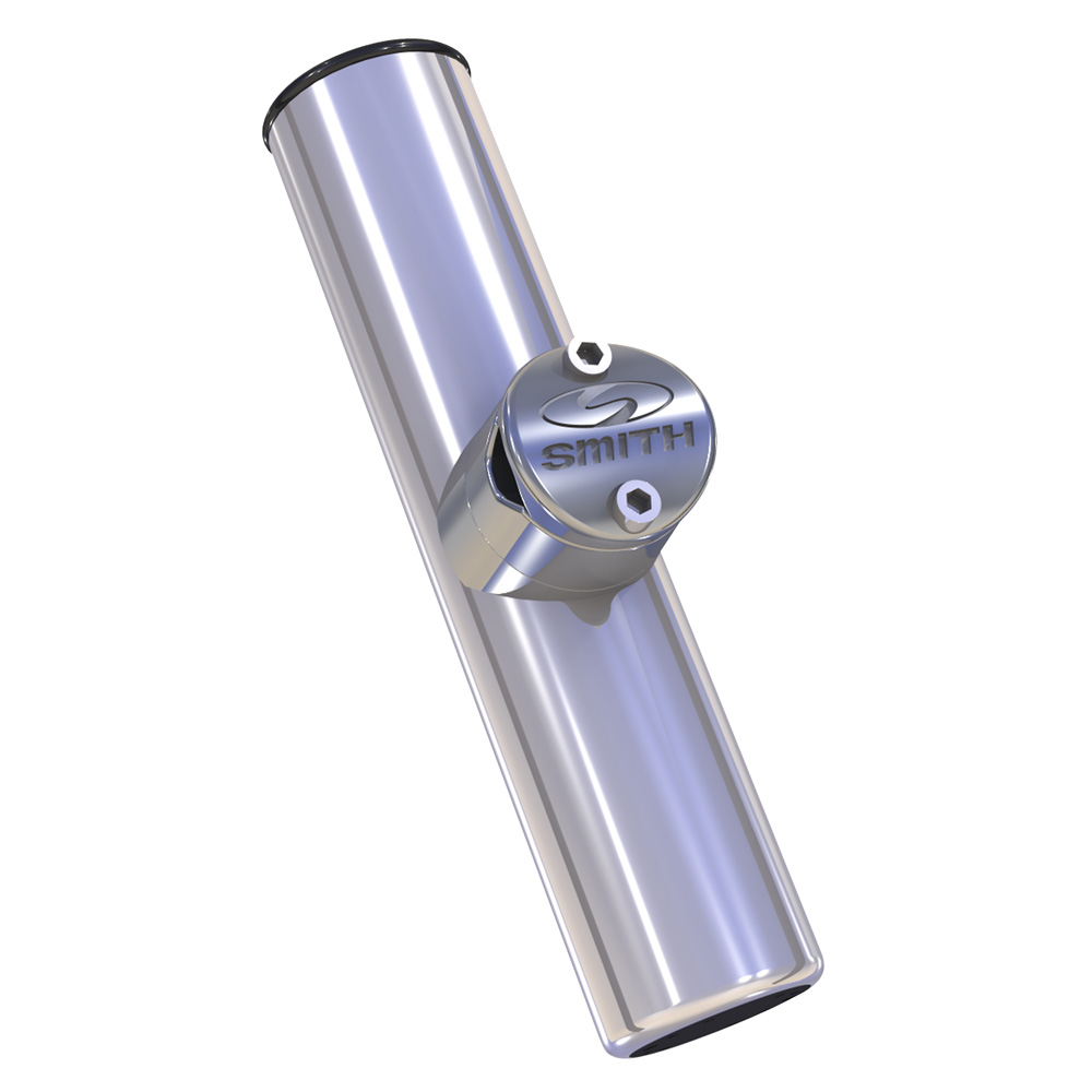 """CE Smith 55105A 304 Stainless Steel 9"""" x 1-5 8"""" ID Adjustable Clamp-On Fishing Rod Holder by CE Smith"""