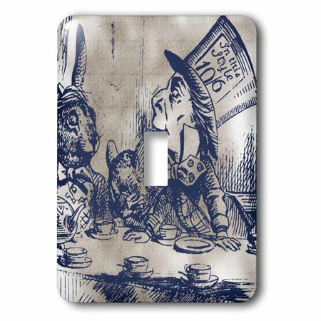 3dRose Mad Hatter Vintage Alice in Wonderland Tea Party, Single Toggle Switch