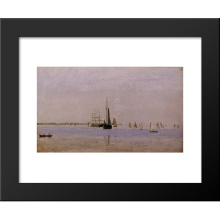 Ships And Sailboats On The Delaware 20X24 Framed Art Print By Thomas Eakins