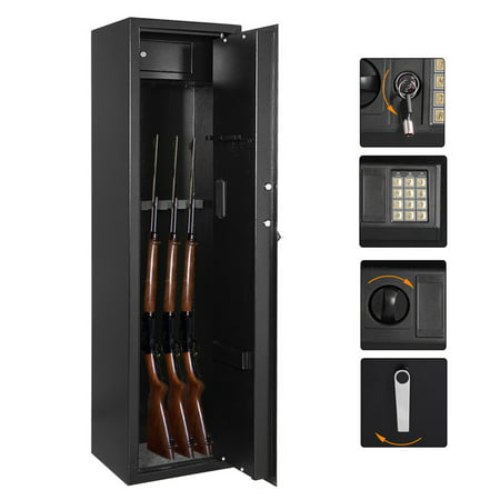 Zokop Gun Safe 5 Rifle Large Storage Cabinet Electronic Lock with Separate Lock Boxes for Home