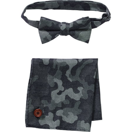 Troy James Genevieve Goings Collection Baby Toddler Boy Camo Bow Tie & Hanky 2 Pc Set