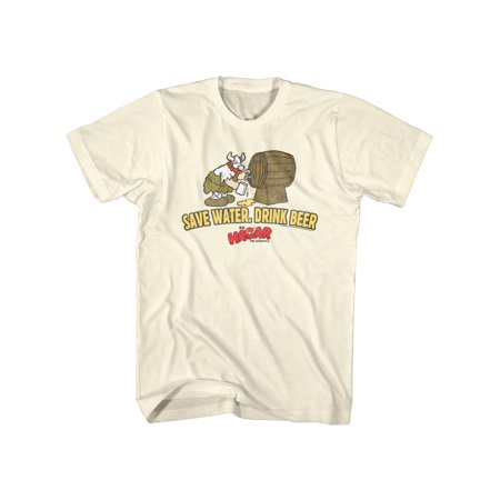 Hagar The Horrible Instant Viking Comic Save Water Drink Beer Adult T-Shirt Tee