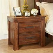 Modus Furniture International Meadow 2 Drawer Nightstand - Brick Brown