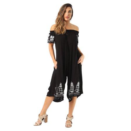 d31ec3b080f Riviera Sun - 21832-NVY-3X Riviera Sun Jumpsuit Romper Jumpsuits for Women  (Black