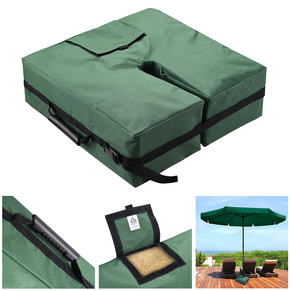 "Yescom 18"" Square Weight Sand Bag 600D Canvas for Outdoor Umbrella Offset Cantilever Base Stand Patio Garden Green"
