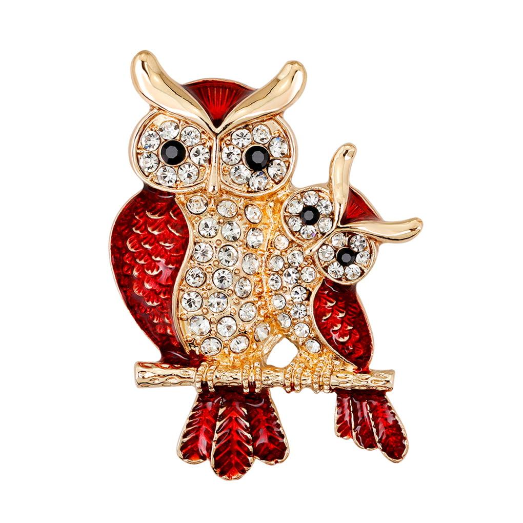 Women Bird Shaped Rhinestone Alloy Brooch Pin Girls Clothes Decorative Badge Breastpin Corsage