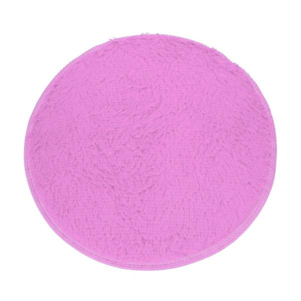 Soft Bath Bedroom Floor Shower Round Mat Rug Non-slip Purple
