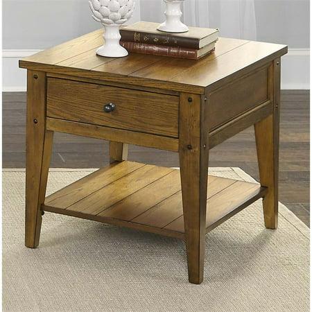Liberty Furniture Lake House End Table in Oak