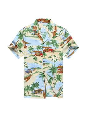 2042dd691 Product Image Made in Hawaii Men's Hawaiian Shirt Aloha Shirt PlumeriaPalm  Mini Surfboards Blue