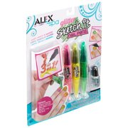 Spa Glitter Sketch It Nail Pens, Show off your custom nail design skills with glittery colors By ALEX Toys