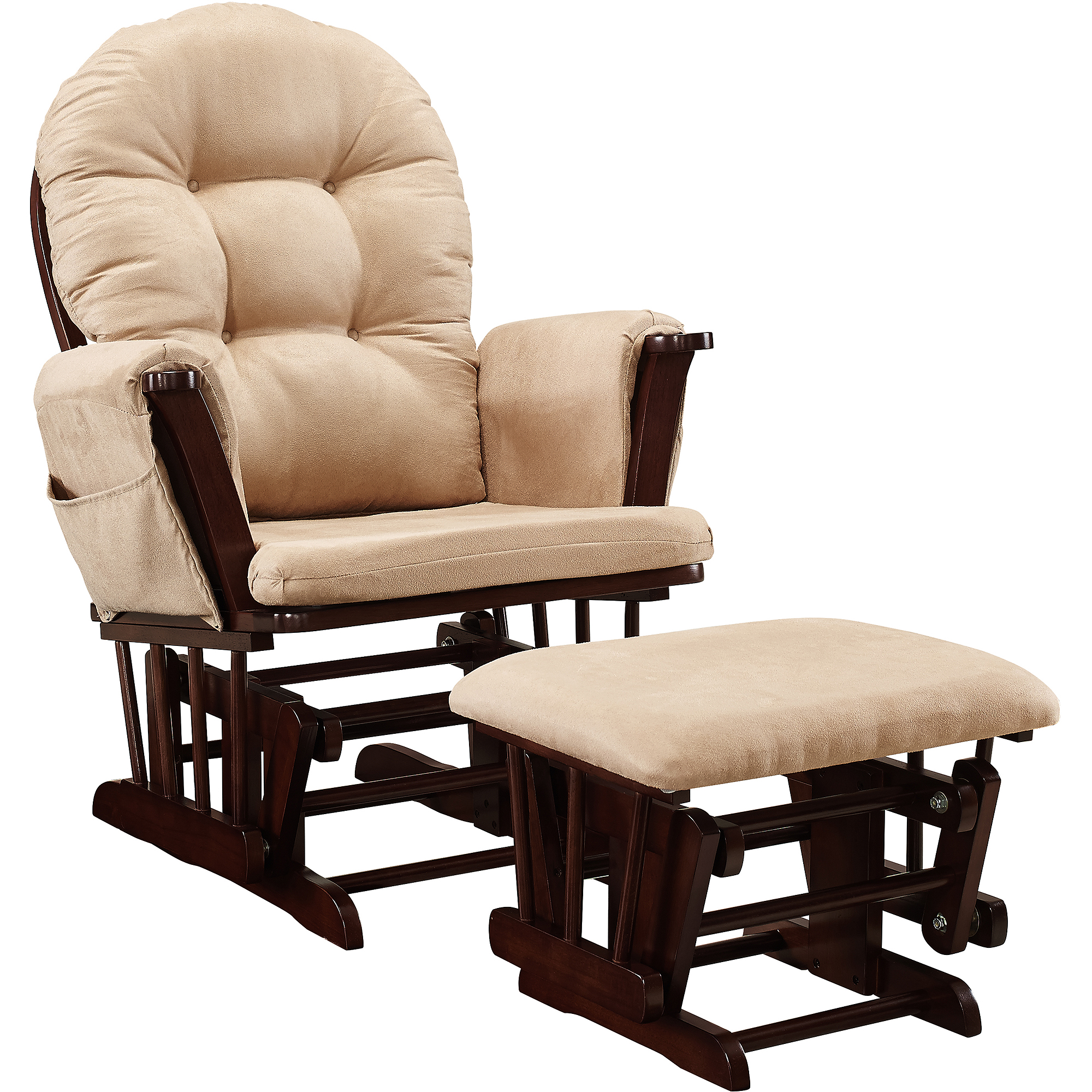 Baby Relax Harbour Glider Rocker and Ottoman Espresso with Beige