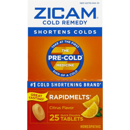 Zicam Cold Remedy Rapidmelts, Citrus Flavor, 25 Quick-Dissolve