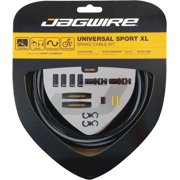 Jagwire Universal Sport Brake Cable Kit, Black with Reflective Stripe