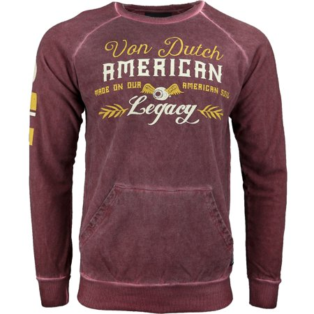(Von Dutch Mens Long Sleeve French Terry Tee Casual Tops)