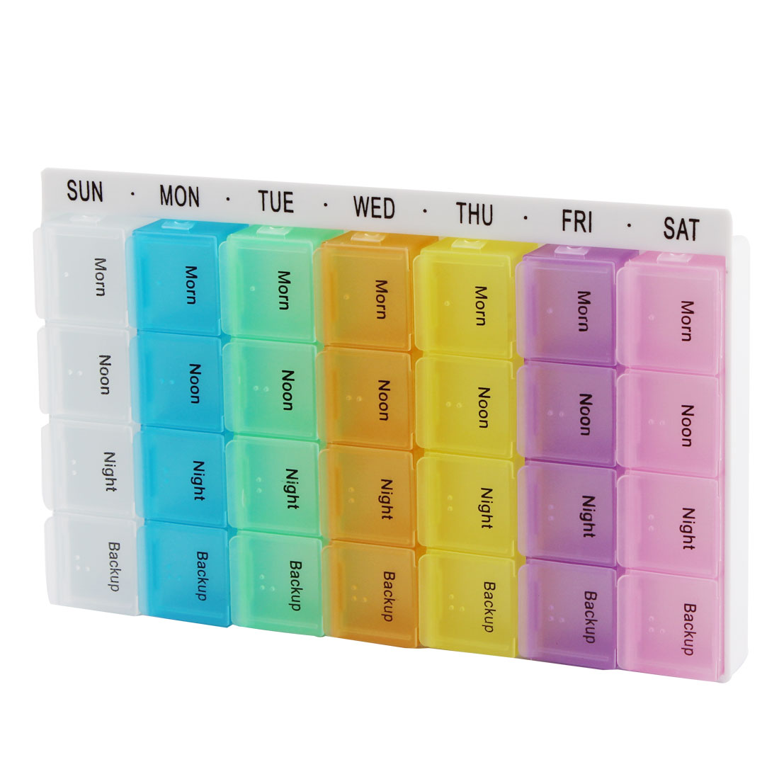 Travel Household Plastic Medication Reminder Daily Am PM Weekly Pill Boxes Cases