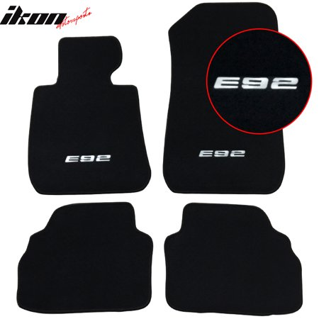 Bmw Carpet (Compatible with 07-13 BMW E92 Logo 3-Series OE Compatible withment Floor Mats Carpet Front Rear)