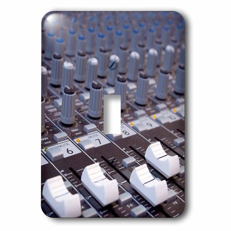 Slider Switch - 3dRose Audio mixer board mixing engineer knobs sliders slider buttons studio recording, 2 Plug Outlet Cover