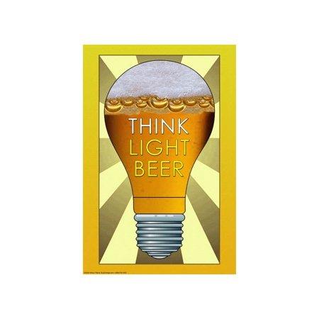 """Think Light Beer"" Print (Canvas 24x36)"