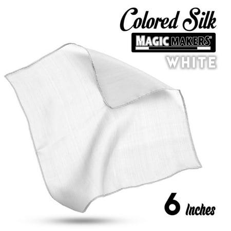 Magic Makers 6 Inch Professional Grade Magician's Silk - White